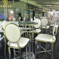 2019 best selling hot chinese products round bar dining mirror outdoor smooth glass table