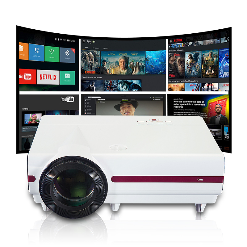 Hdmi Vga Usb 200W Powered Hd Led Projector For Business Education Office