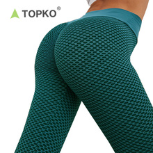 TOPKO OEM Custom Tummy Control High Quality Gym <strong>Sports</strong> High Waist Yoga Pants Seamless Leggings