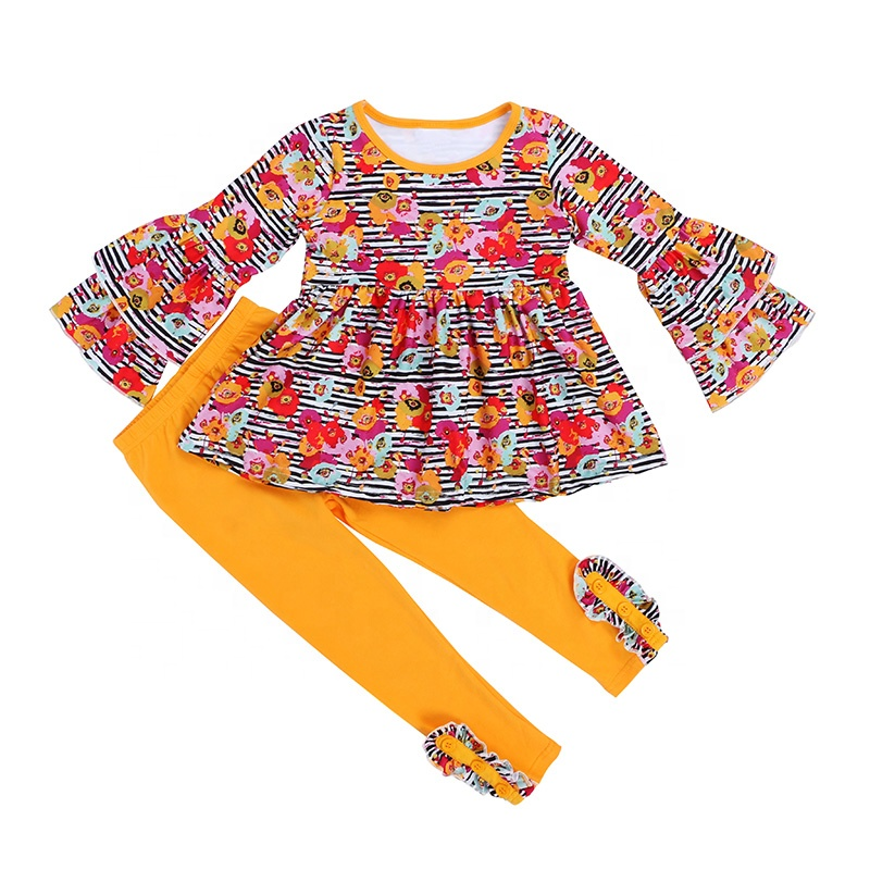 2019 wholesale girls outfit baby clothes top legging set fashion kids clothing
