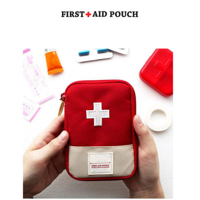 High quality Health Care Oxford cloth Medical first aid small Travel pouch Bag for Car Bike Home Medical Camping Office