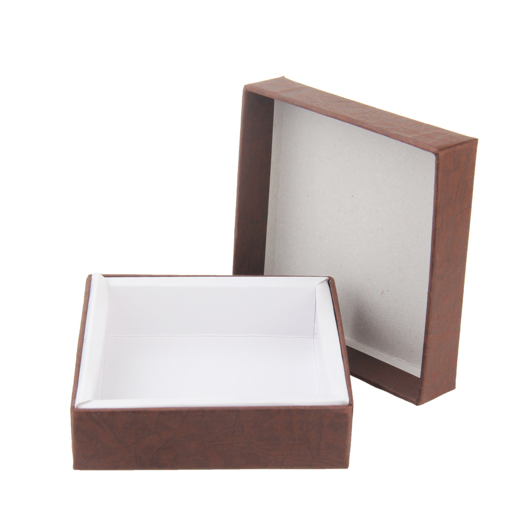 KK015 2019 simple packaging jewelry box solid color gift box square gift jewelry box for sale