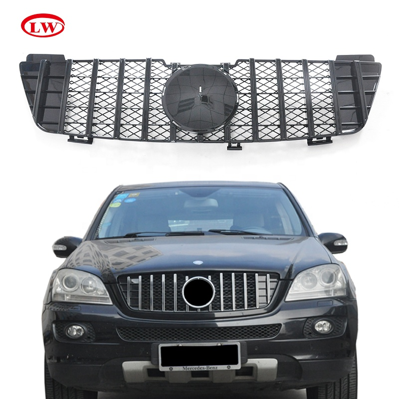 Hot Sale GT style chrome Front Grille <strong>For</strong> Mercedes <strong>Benz</strong> ML <strong>W164</strong> 2006-2008 ABS Car front bumple grille