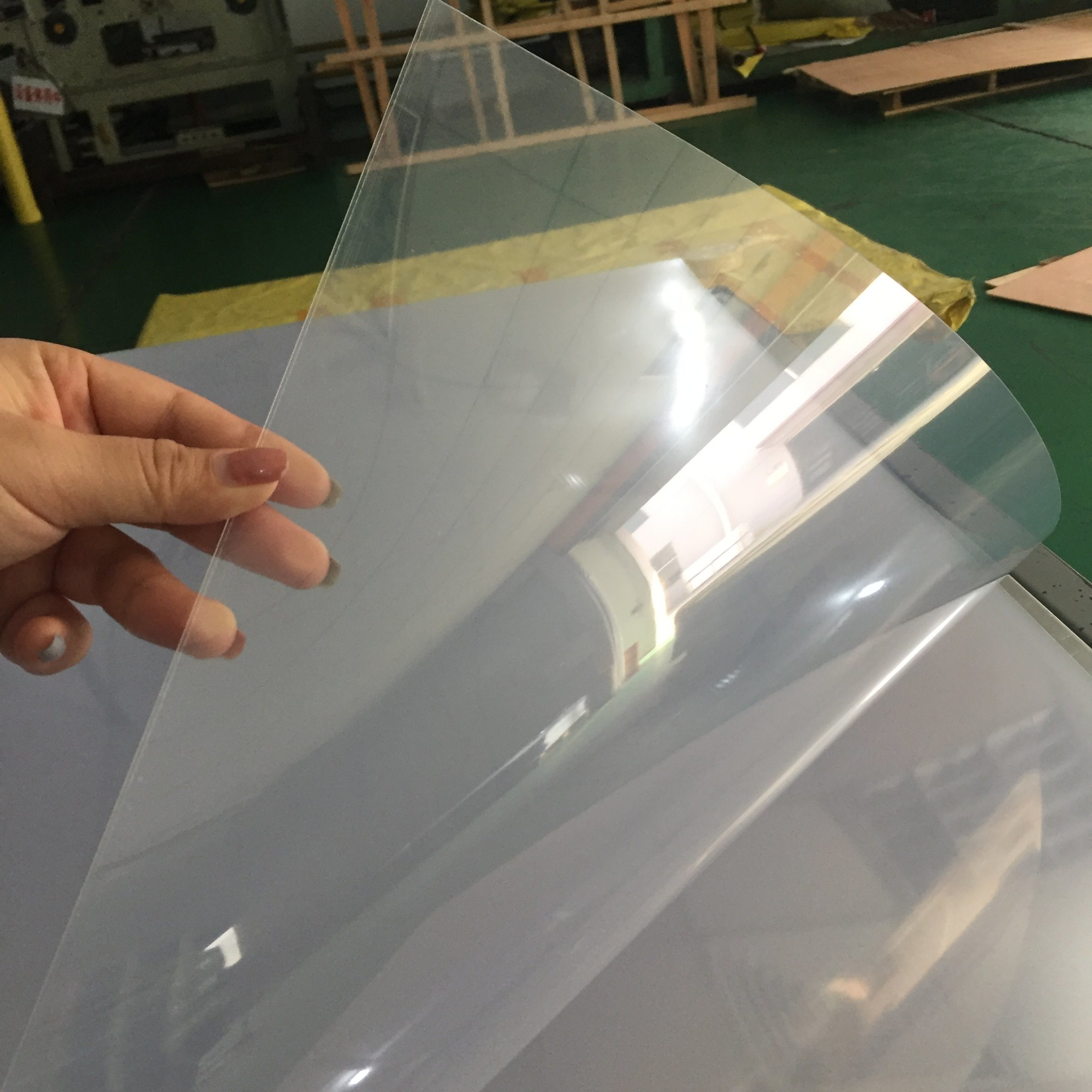 0.8mm thickness 610mm*510mm size transparency pvc clear sheet <strong>plastic</strong> for hair clip