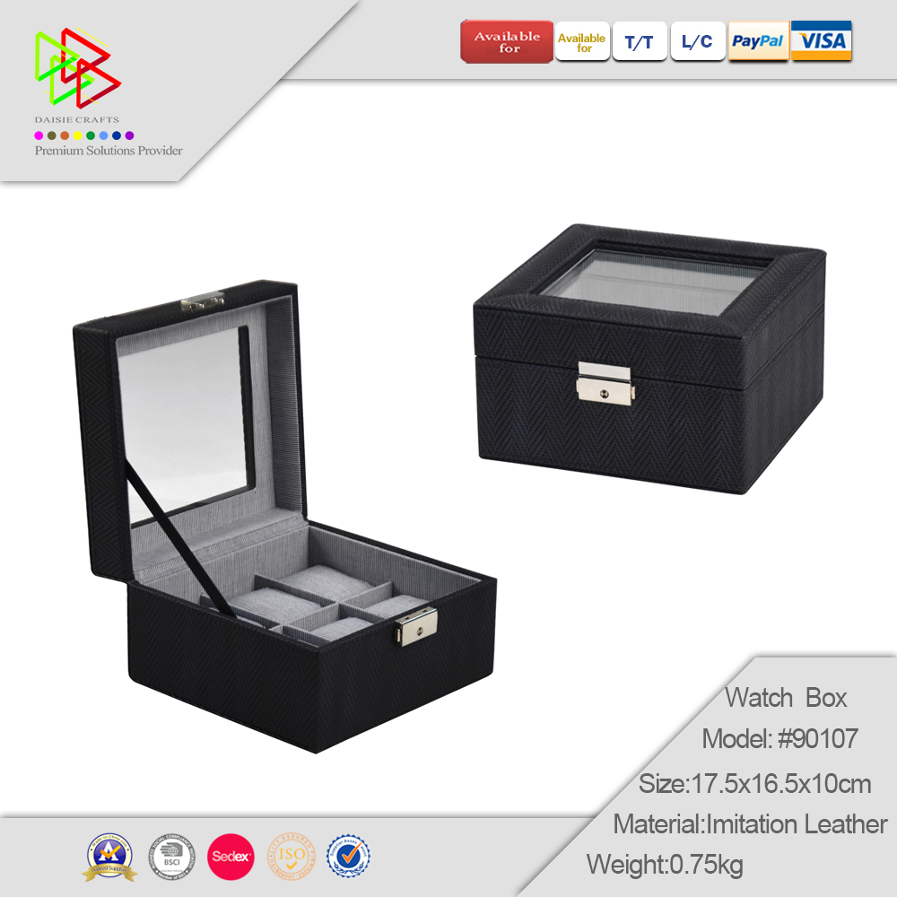 Brown For Man Luxury Custom Wooden Watch Display Box