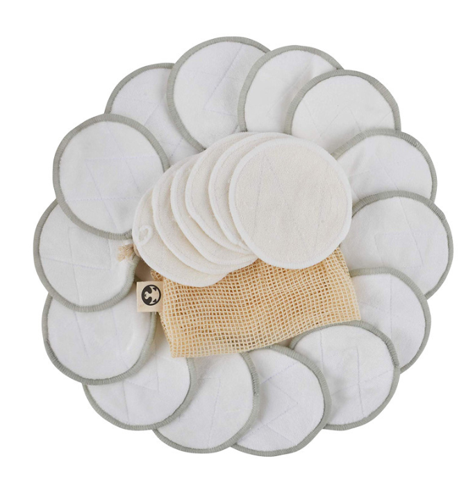 Three layers of bamboo cotton rounds washable cleansing cotton Amazon hot selling plug finger makeup remover pads