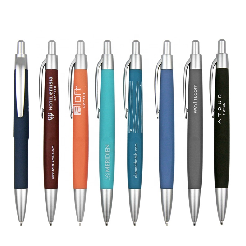 IMEE Printing Fancy School Exquisite Press Rubber Custom Logo Ball Point <strong>Pen</strong>