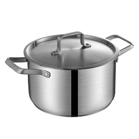 Stainless steel kitchen cookware stock pot and cooking pot with two side handle