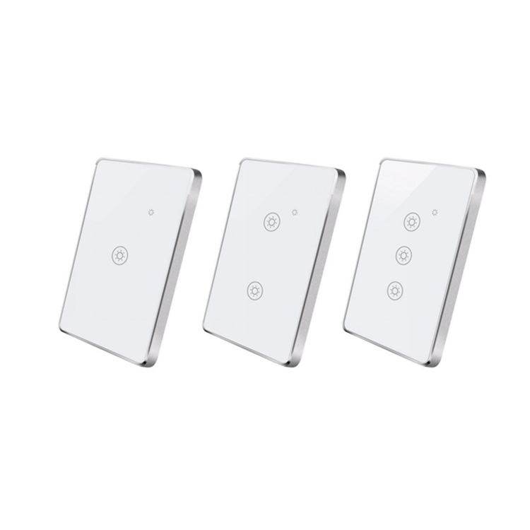 Zigbee Remote Wall Touch <strong>Switch</strong> without N line 1/2/3 Gang Glass Panel light <strong>Switch</strong> with aluminum frame smart home Uemon
