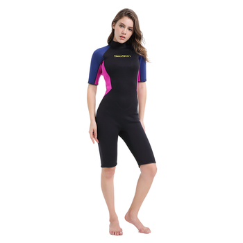 Seaskin 3/2 Limestone Neoprene Back Zip Shorty Furfing Wetsuit For Women