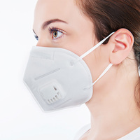 Vertical Folding White Mouth Breathing Protection Nose Dust Mask KN95