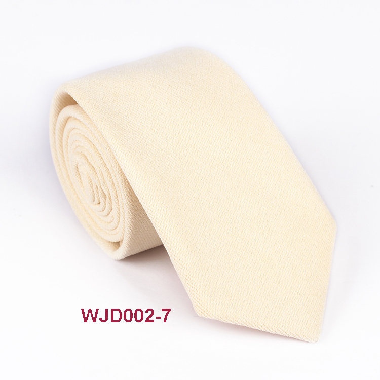 Fashion Sale Solid Cotton Woven Tie Colorful Mens Necktie