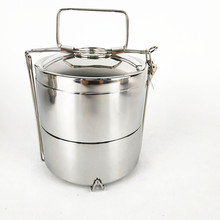 Hot-sale Double Wall Round stainless steel thermal insulation food container lunch bento box