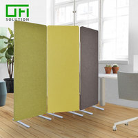 100% Recycle PET Felt Polyester Fiber Acoustic Screens Room Dividers Soundproof Folding Partition