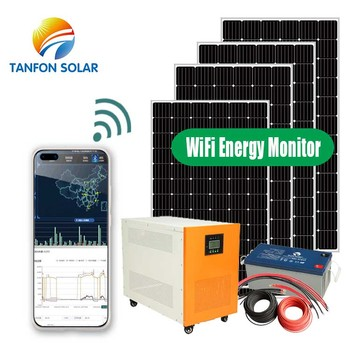 New product renewable energy AC 500W 1KW 2KW 3KW complete photovoltaic solar system 10kva solar panels kit for home