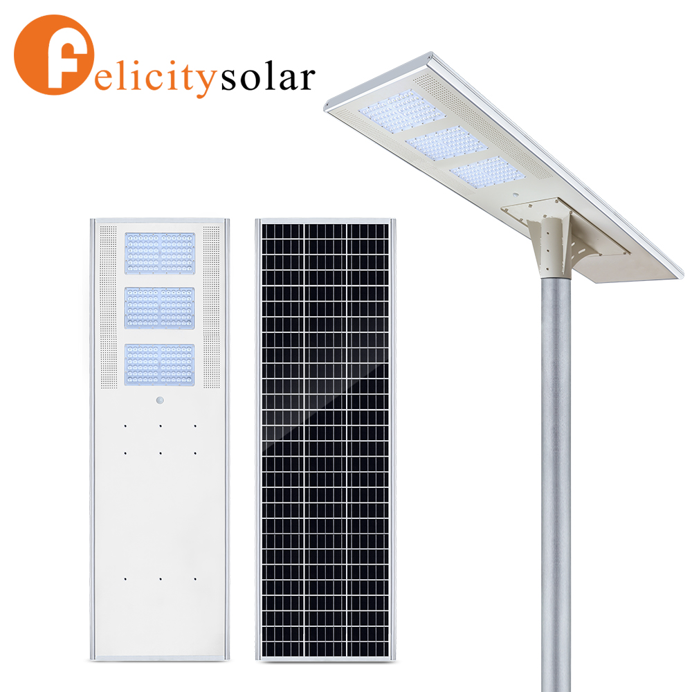 Outdoor 60w all in one led solar lamp street light with motion sensor