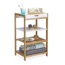 Refined-bam New Arrival Removable Tray Bamboo Kitchen Shelf
