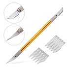 Household DIY Styling Hand Tool Long Handle Carving Knife Cutter with Different Shapes of Blades