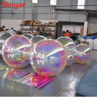 "36"" 0.9M attractive inflatable giant advertising balloon reflective inflatable mirror balls"