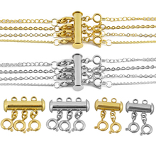 Newest Spring Buckle End Clasps With Chains Lobster Clasps Connectors For Bracelet Diy Jewelry Making Findings