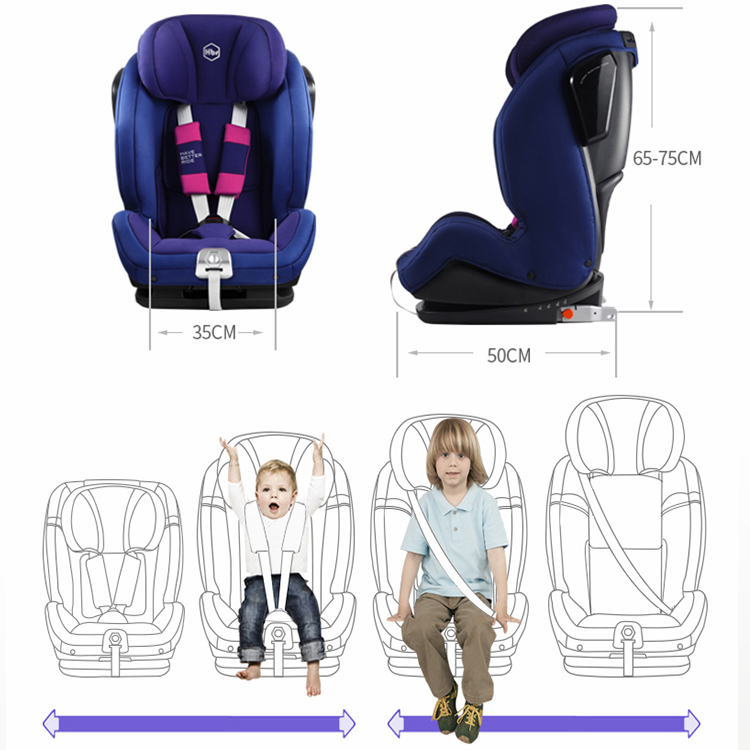 Top Seller China Supplier Rotation 360 Degree Group 0-36Kg Infant Baby Car Seat