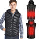 USB Safety Power Supply Men Heated Winter Warm Vests