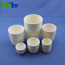 Huto Brand High Purity 99% Alumina Crucible ceramic crucible magnesium oxide crucible Arc Shape 100 ML