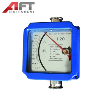 220V 4-20ma output flow meter small metal rotameter