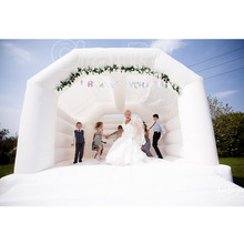 commercial adults kids inflatable white wedding bouncy castle/ bounce house for sal