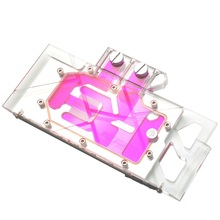 Syscooling GPU water block used for GPU RTX 2080/2080Ti full cover water cooling block with <strong>RGB</strong> support