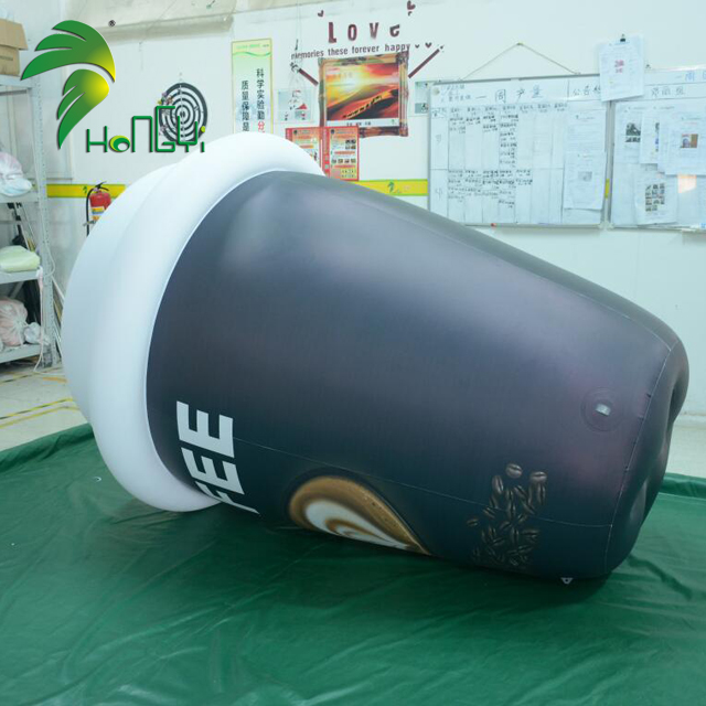 Floating Logo Customized Advertisement Inflatable Coffee Cup Balloon Model