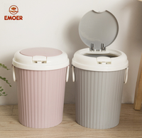 home use plastic indoor trash can dust bin garbage bin with lid