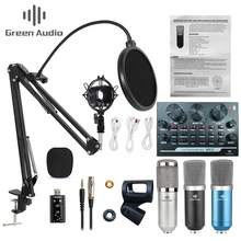 BM800 Professional Condenser Microphone V8 Sound Card set for webcast live recording