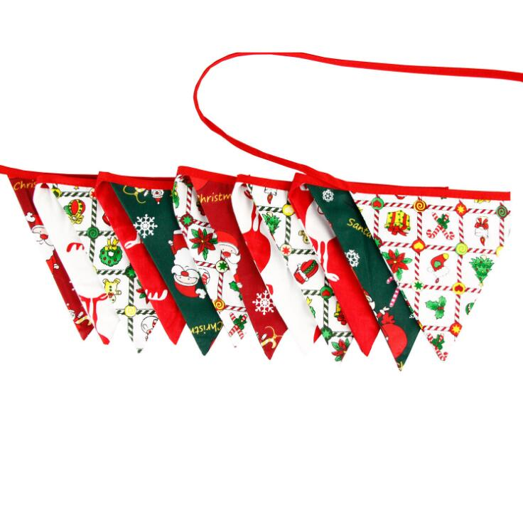 Yiwu Huilin High quality colorful decorative string buntings banner flag for festival party christmas garden flags