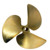 Competition speed marine yacht bronze propeller