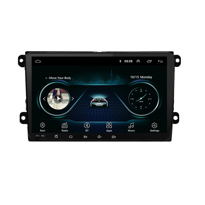 Double Din 9 Inch Autoradio GPS Android Car DVD Player Touch Screen Car Radio for VW Passat Golf