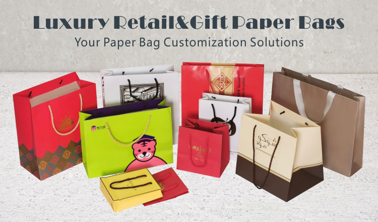 High quality clothing garment packaging paper shopping bag with handle