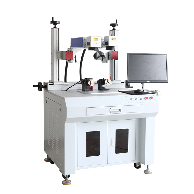 Static Focus 50W Sell Cabinet <strong>J</strong> Metal Plastic Fiber Laser Marking Machine