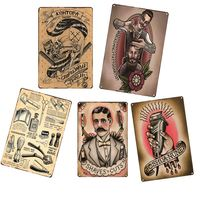 wholesale vintage metal retro tin signs for salon barber shop decoration hair cut mixed many designs