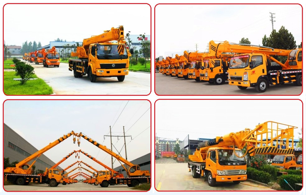 6 Ton Small Truck Crane wit Grab Bucket and 3m Depth Drilling Rig