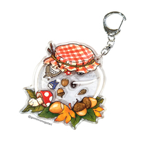 Customer design printed shaking acrylic keychain anime acrylic <strong>charm</strong> with inner small shaker keychains