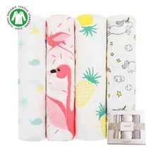 Newborn baby blanket soft Natural bamboo Baby Muslin Swaddle Blanket