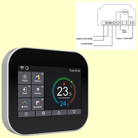 Modbus RS485 programmable digital thermostat with WIFI