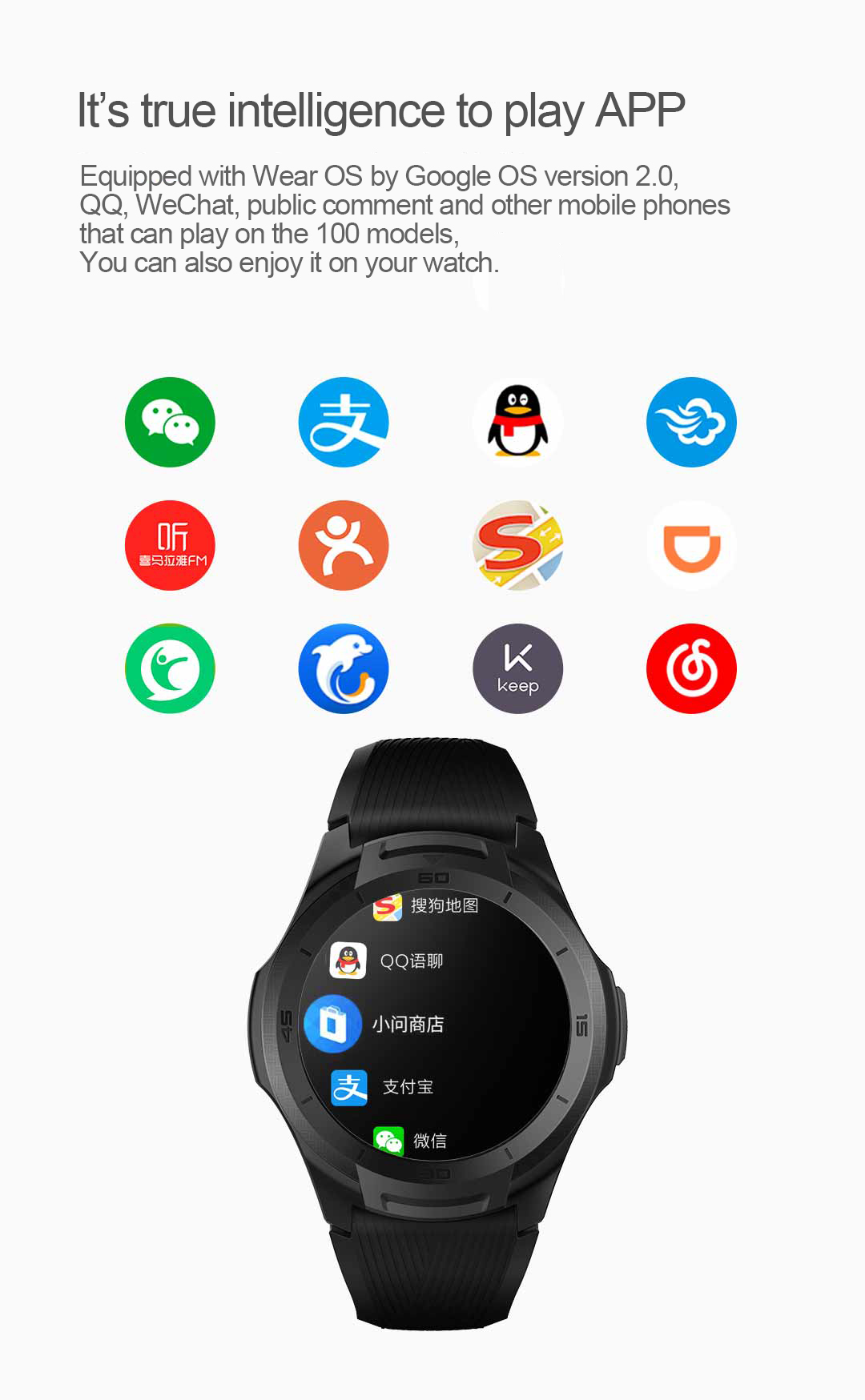 TicWatch S2 identifies heart rate health monitoring massive application military smart watch sports watches