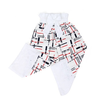 Wholesale lace design linen pants baby children clothing kids clothes baby pants