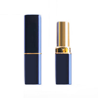 Wholesale custom empty blue black lip stick / lipstick tubes cosmetic packaging lip balm containers