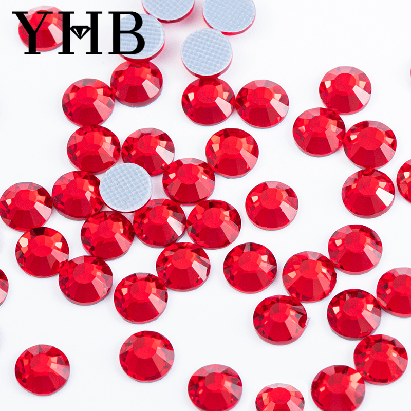 YHB Factory Loose Glass Strass <strong>Crystal</strong>, AB Flatback Hot Fix Nail Art Rhinestones Manufacturer for Nail Art Decoration