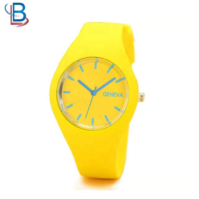 jelly silicone watch with candy color