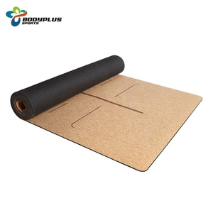 High Quality Customize Pattern Cork Rubber Yoga Mat