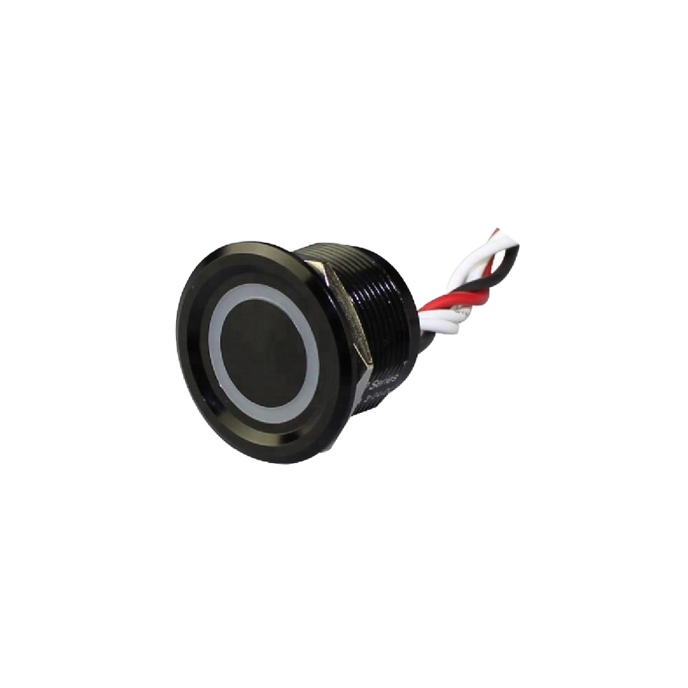 22mm Concave Button Metal 12V Black Color Illuminated Momentary Waterproof Touchless <strong>Switch</strong>